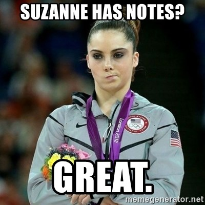 McKayla Maroney Not Impressed - suzanne has notes? GREAT.