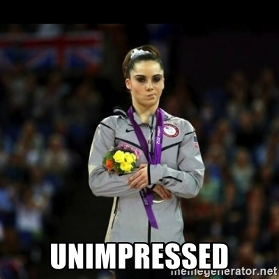 Unimpressed McKayla Maroney - Unimpressed