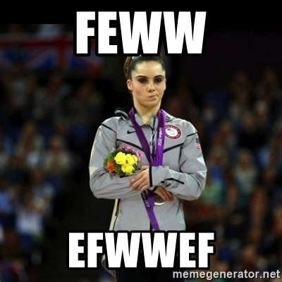 Unimpressed McKayla Maroney - feww efwwef