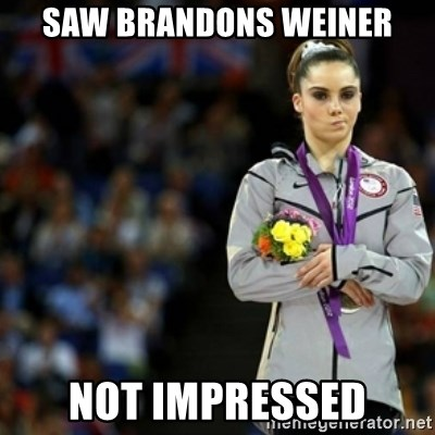 unimpressed McKayla Maroney 2 - saw brandons weiner not impressed