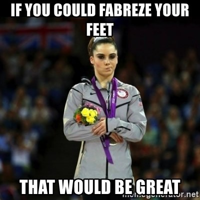 Unimpressed McKayla Maroney - if you could fabreze your feet that would be great