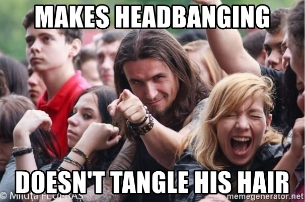 Ridiculously Photogenic Metalhead Guy - Makes headbanging doesn't tangle his hair