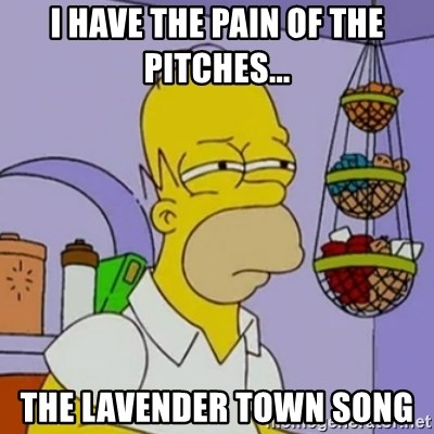 Simpsons' Homer - I HAVE THE PAIN OF THE PITCHES... THE LAVENDER TOWN SONG