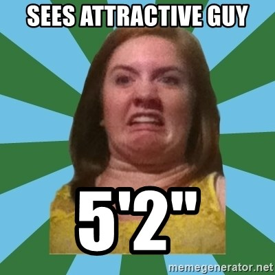 Disgusted Ginger - Sees attractive guy 5'2""