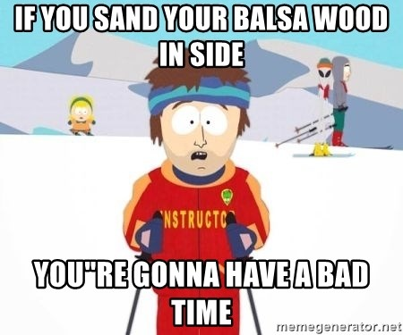 "South Park Ski Teacher - IF YOu SAND YOUR BALSA WOOD IN SIDE YOU""RE GONNA HAVE A BAD TIME"