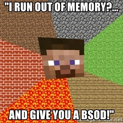 minecraft run out of memory