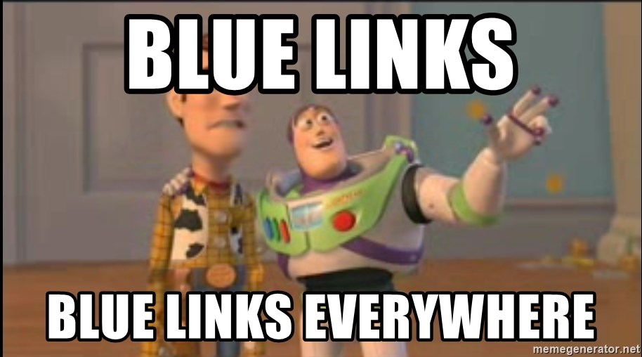 X, X Everywhere  - Blue links blue links everywhere