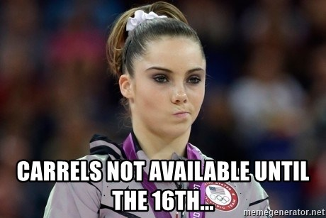 mckayla meme - CArrels not available until the 16th...