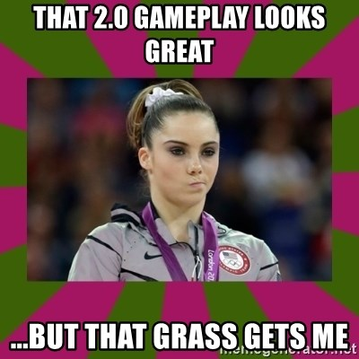 Kayla Maroney - that 2.0 gameplay looks great ...but that grass gets me