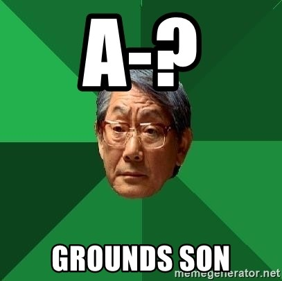 High Expectations Asian Father - A-? grounds son