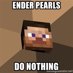 Minecrafty - ender pearls do nothing