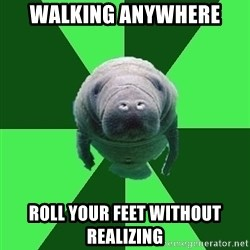 Marching Band Manatee - walking anywhere roll your feet without realizing