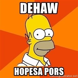 Homer Advice - dehaw hopesa pors