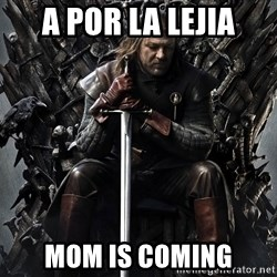 Eddard Stark - A por la lejia mom is coming
