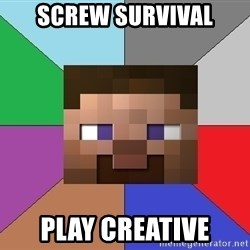 Minecraft-user - screw survival play creative