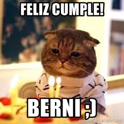 Birthday Cat - FELIZ CUMPLE! BERNI ;)