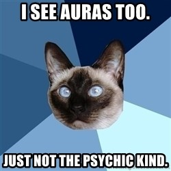 Chronic Illness Cat - I see auras too. Just not the psychic kind.