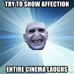 Awkward Wizard - try to show affection entire cinema laughs