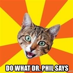 Bad Advice Cat -  Do what Dr. Phil says