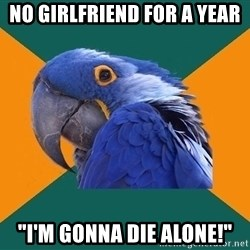 """Paranoid Parrot - No girlfriend for a year """"I'm gonna die alone!"""""""