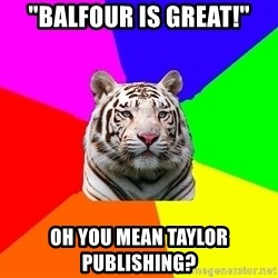 """yearbook white tiger - """"balfour is great!"""" oh you mean taylor publishing?"""