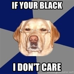 Racist Dawg - IF YOUR BLACK I DON'T CARE