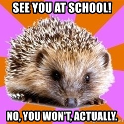Homeschooled Hedgehog - See you at school! No, You won't, actually.