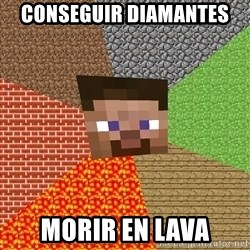 Minecraft Guy - conseguir diamantes morir en lava