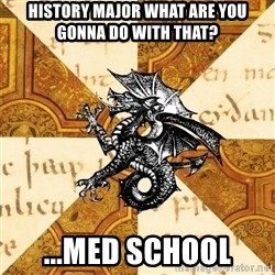 History Major Heraldic Beast - history major what are you gonna do with that? ...med school