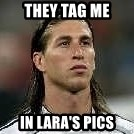 Sergio Ramos 4  - They Tag Me In Lara's Pics