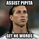 Sergio Ramos 4  - assist pipita  get no words