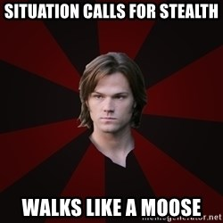 Bitchface Sam - situation calls for stealth walks like a moose