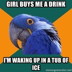Paranoid Parrot - girl buys me a drink i'm waking up in a tub of ice
