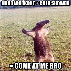 Anteater - HARD WORKOUT + cold shower = COME AT ME BRO
