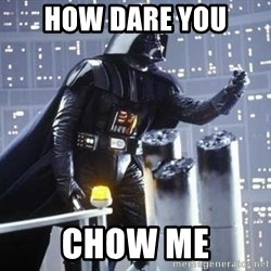 Darth Vader Shaking Fist - how dare you chow me