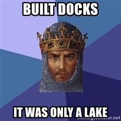 Age Of Empires - BUILT DOCKS IT WAS ONLY A LAKE