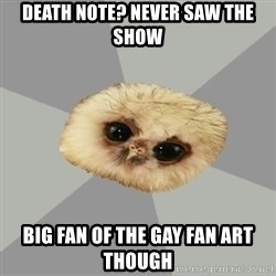 deviantArt Owl - death note? Never saw the show big fan of the gay fan art though