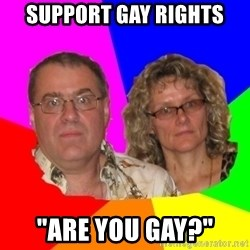 """Paranoid Parents - support gay rights """"ARE YOU GAY?"""""""