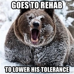 Clean Cocaine Bear - goes to rehab to lower his tolerance