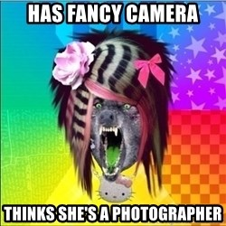 Scene Wolf - has fancy camera thinks she's a photographer