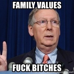 republican party platform - family values fuck bitches