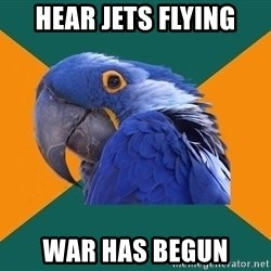Paranoid Parrot - Hear jets flying War has begun