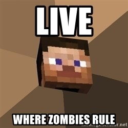 Minecrafty - live where zombies rule