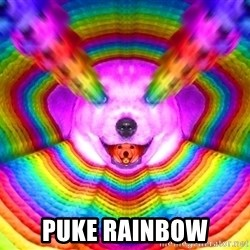 Final Advice Dog - PUKE RAINBOW