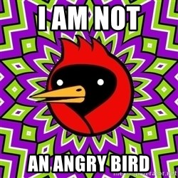 Winged Doom - I AM NOT  AN ANGRY BIRD