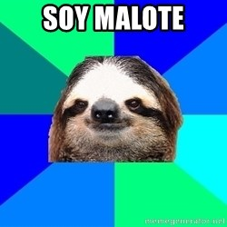 Socially Lazy Sloth - soy malote