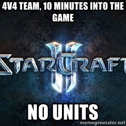 Wtf starcraft - 4v4 team, 10 minutes into the game no units