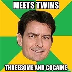 Courage Sheen - meets twins threesome and cocaine