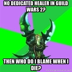 Pro WoW Player - No dedicated healer in Guild Wars 2? Then who do I blame when I die?