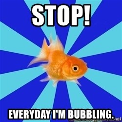 Absentminded Goldfish - Stop! Everyday i'm bubbling.